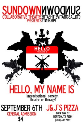 HELLO, MY NAME IS Improvisational Comedy Fundraiser 2008
