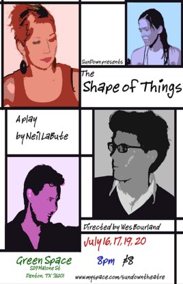 THE SHAPE OF THINGS by Neil Labute dir. Wes Borland 2008