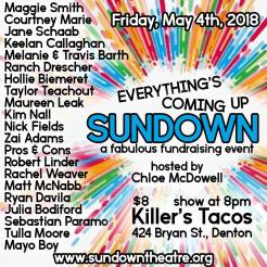 EVERYTHING'S COMING UP SUNDOWN FUNDRAISER